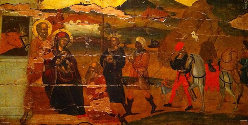 La crèche de Greccio Giotto - 1297 / 1299 - Basilique d'Assise