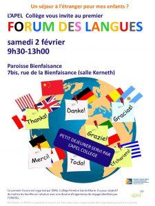 Lycée : Forum des langues