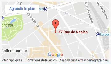 Carte Groupe Scolaire - 47 rue de Naples - 75008 Paris