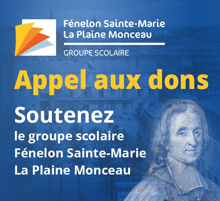 Appel aux dons - Fénelon Sainte-Marie La Plaine Monceau