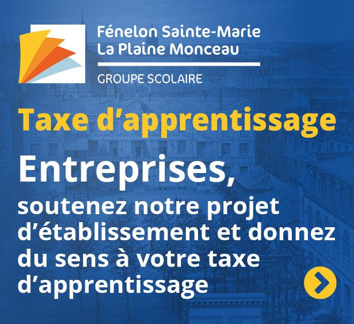 Taxe apprentissage Fénelon Sainte-Marie - La Plaine Monceau