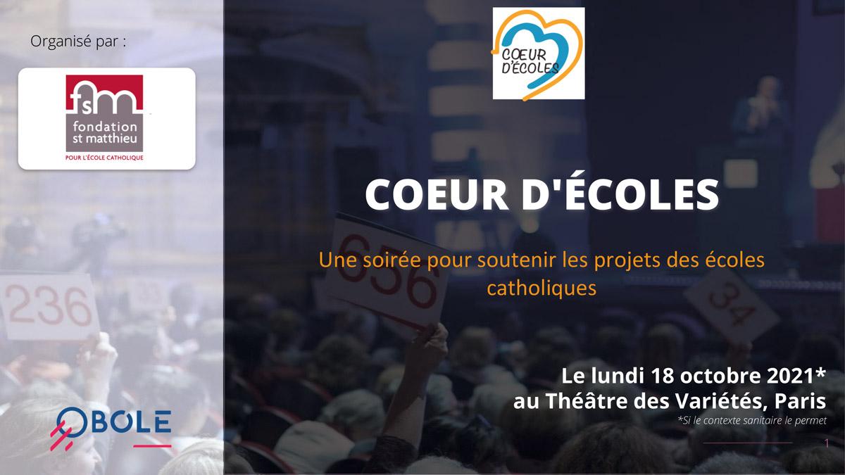 Soirée Cœur d'Écoles - Invitation
